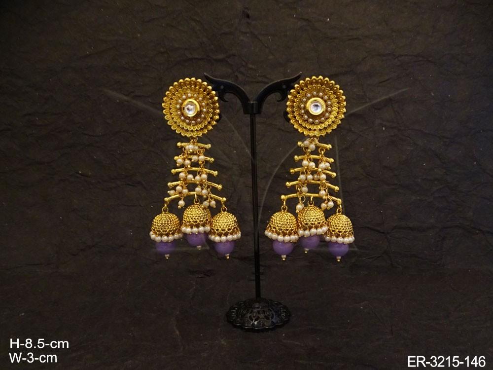 layer hold jhumki earrings manek ratna