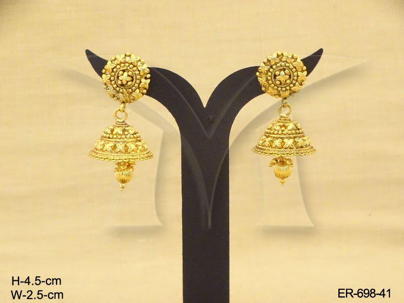 Gold Earring Designs For Wedding More Shine Antique Earring ...