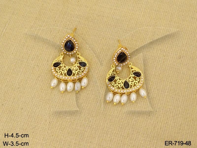 Gold Earrings Designs Indian Traditional Gold Earrings   Manek Ratna