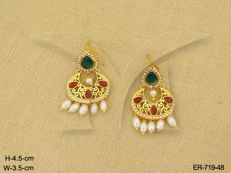 Gold Earrings Designs Indian Traditional Gold Earrings | Manek Ratna