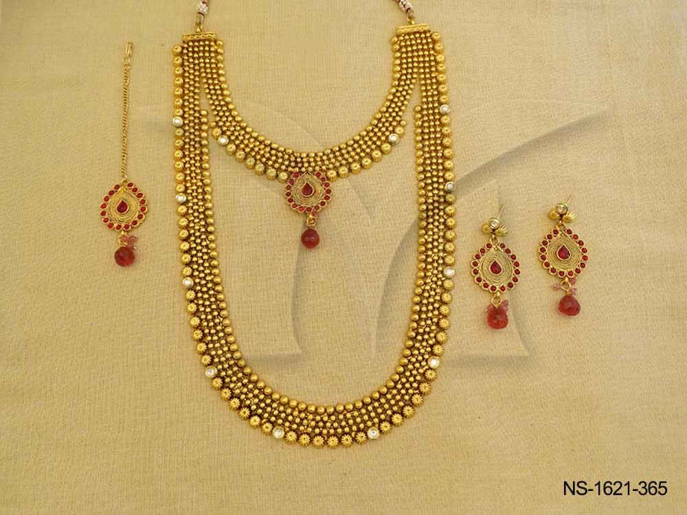 Dulhan Wedding Wear Kemp Necklace Set | Manek Ratna