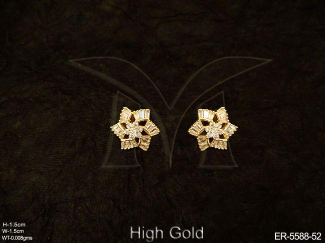9ef3815830150 Rhombus Shape Delicate Ad Earrings - Earrings - Copper And Brass ...