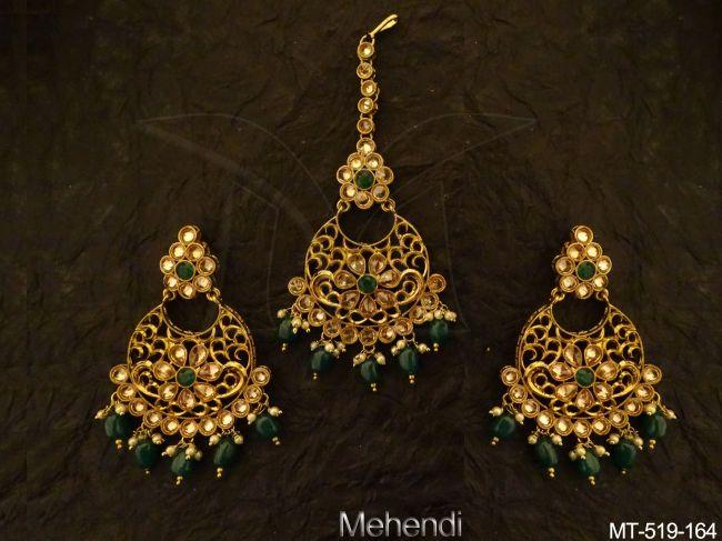 Antique-Maangtikka Earring-MT-519Gr-164-MT.jpg