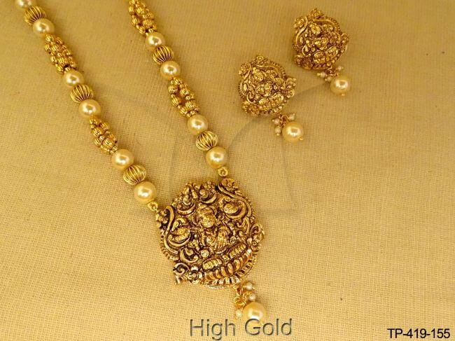 Temple jewellery temple jewellery online temple jewellery south style temple laxmi ji pendant set aloadofball Gallery