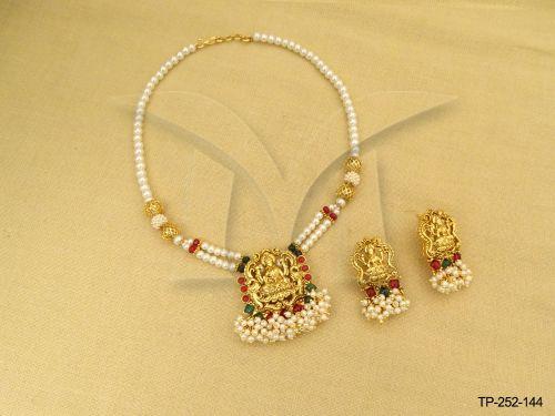 Temple jewellery temple jewellery online temple jewellery moti desidned laxmi ji temple pendant mozeypictures Gallery